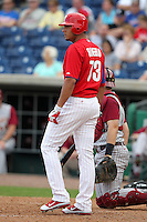 Philadelphia Phillies Carlos Rivero #73 during a scrimmage vs the Florida State Seminoles  at Bright House Field in Clearwater, Florida;  February 24, 2011.  Philadelphia defeated Florida State 8-0.  Photo By Mike Janes/Four Seam Images