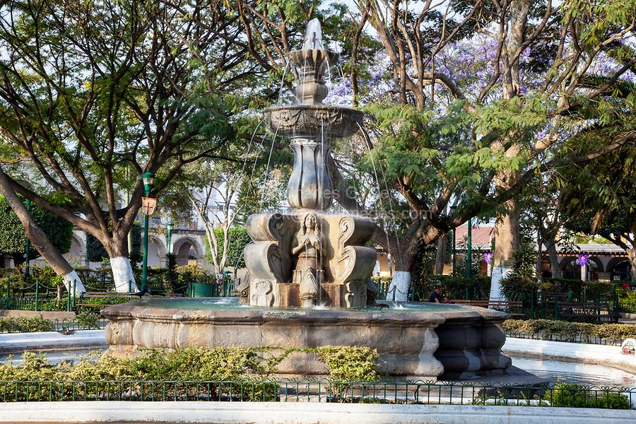 Antigua, Guatemala. Town Square Fountain.