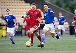 East Fife v St Johnstone B…10.08.21  Bayview Stadium SPFL Trust Trophy<br />Spencer Moreland fends off Aaron Steele<br />Picture by Graeme Hart.<br />Copyright Perthshire Picture Agency<br />Tel: 01738 623350  Mobile: 07990 594431