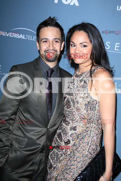 Lin-Manuel Miranda and Karen Olivo at Fox's 'House' series finale wrap party at Cicada on April 20, 2012 in Los Angeles, California. ©mpi21/MediaPunch Inc.