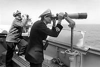 - Italian Navy, Vittorio Veneto cruiser, officers on the bridge  (May 1984)<br /> <br /> - Marina Militare Italiana, incrociatore Vittorio Veneto, ufficiali in plancia (Maggio 1984)