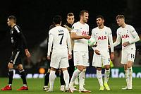 30th September 2021; Tottenham Hotspur Stadium. Tottenham, London, England; UEFA Conference League football, Tottenham v NS Mura: Harry Kane of Tottenham Hotspur with the match ball after his hat-trick for 5-1