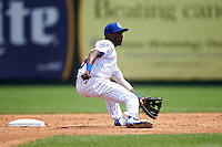 South Bend Cubs shortstop Andruw Monasterio (6) during the first game of a doubleheader against the Peoria Chiefs on July 25, 2016 at Four Winds Field in South Bend, Indiana.  South Bend defeated Peoria 9-8.  (Mike Janes/Four Seam Images)