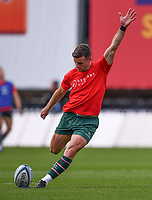 30th August 2020; Kingsholm Stadium, Gloucester, Gloucestershire, England; English Premiership Rugby, Gloucester versus Leicester Tigers; George Ford of Leicester Tigers warms up