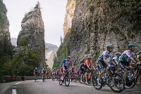 peloton passing the Pic de l'Oeillette on their way to the Col de Porte<br /> <br /> Stage 16 from La Tour-du-Pin to Villard-de-Lans (164km)<br /> <br /> 107th Tour de France 2020 (2.UWT)<br /> (the 'postponed edition' held in september)<br /> <br /> ©kramon
