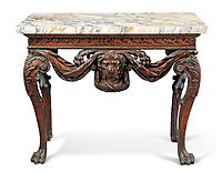 BNPS.co.uk (01202 558833)<br /> Pic: Christies/BNPS<br /> <br /> Pictured: A George II pine side table that sold for £200,000.<br /> <br /> An impressive collection of furniture and artworks amassed by British designer Jasper Conran has sold for a massive £6.7m.<br /> <br /> Several paintings set new world auction records and the top lot was a 16th century portrait of Anthony Maria Browne, that sold for £742,500.<br /> <br /> The collection, which spans four centuries and had been gathered over 30 years, had filled Conran's impressive home at New Wardour Castle in Wiltshire.<br /> <br /> But he put the property on the market last August and after downsizing to a smaller home decided to auction most of his treasures.