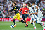 Antoine Griezmann of Atletico de Madrid in action during their 2016-17 UEFA Champions League Semifinals 1st leg match between Real Madrid and Atletico de Madrid at the Estadio Santiago Bernabeu on 02 May 2017 in Madrid, Spain. Photo by Diego Gonzalez Souto / Power Sport Images