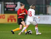 Belgium - Czech Republic : Lorca Van De Putte aan de bal.foto DAVID CATRY / Vrouwenteam.be