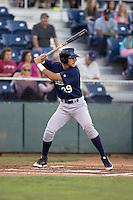 Eugene Emeralds' Alberth Martinez #39 at bat against the Everett AquaSox at Everett Memorial Stadium in Everett, Washington on August 23, 2011.  (Ronnie Allen/Four Seam Images)