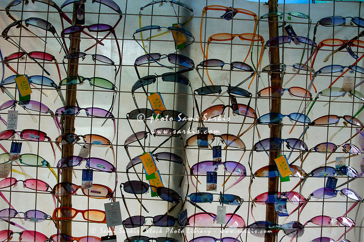 Colorful sunglasses for sale in Xi'an, Shaanxi, China.