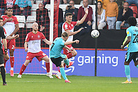 Matt Jay of Exeter City free kick goes wide during Stevenage vs Exeter City, Sky Bet EFL League 2 Football at the Lamex Stadium on 9th October 2021