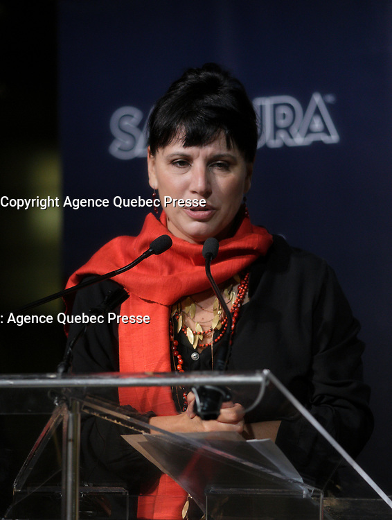 La directrice du MBAM, Nathalie Bondil<br /> au <br /> 13 ieme Gala Phenicia , 25 mai 2017<br /> <br /> PHOTO :  Agence Québec Presse