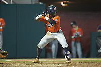 Josh Anthony (3) of the Auburn Tigers at bat against the Army Black Knights at Doak Field at Dail Park on June 2, 2018 in Raleigh, North Carolina. The Tigers defeated the Black Knights 12-1. (Brian Westerholt/Four Seam Images)