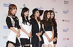 4Minute, Jun 07, 2014 : K-pop girl group 4 Minute pose before the Dream Concert in Seoul, South Korea.  (Photo by Lee Jae-Won/AFLO) (SOUTH KOREA)