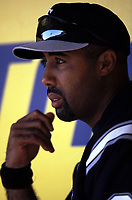Harold Baines of the Chicago White Sox during a 2001 season MLB game at Angel Stadium in Anaheim, California. (Larry Goren/Four Seam Images)