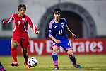 DPR Korea plays against Japan during the AFC U-16 Women's Championship China 2015 Semi Final match at the Xinhua Road Stadium on 15 November 2015 in Wuhan, China. Photo by Aitor Alcalde / Power Sport Images