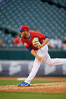 Buffalo Bisons relief pitcher Justin Shafer (33) delivers a pitch during a game against the Lehigh Valley IronPigs on June 23, 2018 at Coca-Cola Field in Buffalo, New York.  Lehigh Valley defeated Buffalo 4-1.  (Mike Janes/Four Seam Images)