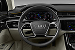 Car pictures of steering wheel view of a 2018 Audi A8 Base 4 Door Sedan