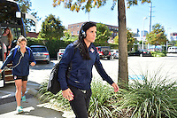 Houston, TX - Sunday Oct. 09, 2016: Ali Krieger prior to a National Women's Soccer League (NWSL) Championship match between the Washington Spirit and the Western New York Flash at BBVA Compass Stadium.