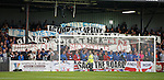 Rangers fans making a protest at Somerset Park