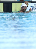 Nuoto 55 Settecolli trophy Foro Italico, Rome on June, 29 2018.<br /> Swimmer Chad Le Clos, of South Africa, celebrates after winning the men's 100 meters butterfly at the Settecolli swimming trophy in Rome, on 29 June, 2018.<br /> UPDATE IMAGES PRESS/Isabella Bonotto