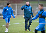 St Johnstone Training….20.01.17<br />Manager Tommy Wright pictured with Paul Paton during training this monring ahead of tomorrow's Scottish Cup game against Stenhousemuir.<br />Picture by Graeme Hart.<br />Copyright Perthshire Picture Agency<br />Tel: 01738 623350  Mobile: 07990 594431
