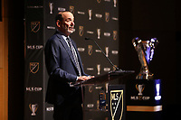 SEATTLE, WA - NOVEMBER 08: Major League Soccer Commissioner Don Garber at Grand Hyatt Seattle on November 08, 2019 in Seattle, Washington.