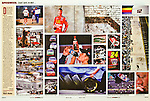 Two page spread on NASCAR All-Star Race and the Coca-Cola 600 festivities in Charlotte.