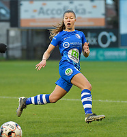 Lyndsey Van Belle (14 of Gent)  pictured during a female soccer game between Eendracht Aalst and AA Gent Ladies on the 10 th matchday of the 2020 - 2021 season of Belgian Scooore Womens Super League , Saturday 19 th of December 2020  in Aalst , Belgium . PHOTO SPORTPIX.BE | SPP | DIRK VUYLSTEKE
