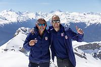 CRANS-MONTANA, SWITZERLAND - MAY 28: John Dorton, Gregg Berhalter at Pointe de la Plaine Morte on May 28, 2021 in Crans-Montana, Switzerland.
