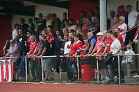 Hornchurch fans look on during Hornchurch vs Dagenham & Redbridge, Friendly Match Football at Hornchurch Stadium on 24th July 2021