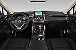 Stock photo of straight dashboard view of a 2015 Lexus NX NX 200t 5 Door SUV Dashboard