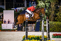 USA-Lillie Keenan rides Skyhorse during the Longines FEI Jumping Nations Cup™ Final - First Round. 2021 ESP-Longines FEI Jumping Nations Cup Final. Real Club de Polo, Barcelona. Spain. Friday 1 October 2021. Copyright Photo: Libby Law Photography