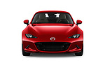 Car photography straight front view of a 2019 Mazda MX-5 Selection 2 Door Targa Front View