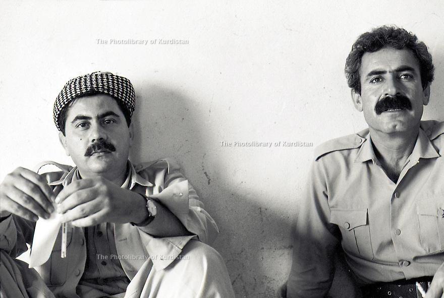 Irak 1991<br /> Hoshyar Zibari et Rast Shawess<br /> Iraq 1991<br /> Hoshyar Zibari and Rast Shawess