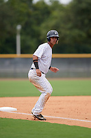 GCL Yankees East Jhon Moronta (57) leads off third base during the second game of a doubleheader against the GCL Blue Jays on July 24, 2017 at the Yankees Minor League Complex in Tampa, Florida.  GCL Yankees East defeated the GCL Blue Jays 7-3.  (Mike Janes/Four Seam Images)