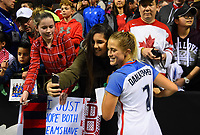 Vancouver, Canada - Thursday November 09, 2017: Abby Dahlkemper during an International friendly match between the Women's National teams of the United States (USA) and Canada (CAN) at BC Place.