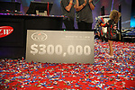 HOT SPRINGS, AR - AUGUST 12: The winning $300,000 check for the FLW Forrest Wood Cup on Lake Ouachita in Hot Springs, Arkansas. (Photo by Justin Manning/Eclipse Sportswire/Getty Images)