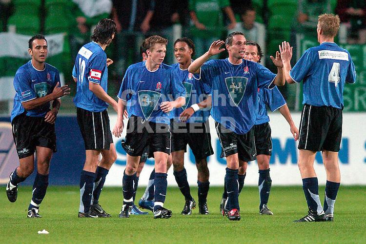 groningen - top oss 20-09-2006 2e ronde knvb beker seizoen 2006-2007 top oss viert de 1-1