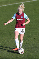 Grace Fisk of West Ham during West Ham United Women vs Brighton & Hove Albion Women, Barclays FA Women's Super League Football at the Chigwell Construction Stadium on 15th November 2020