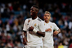 Real Madrid's Vinicius Jr. celebrates goal during Copa del Rey match between Real Madrid and UD Melilla at Santiago Bernabeu Stadium in Madrid, Spain. December 06, 2018. (ALTERPHOTOS/A. Perez Meca)