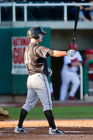 Justin Bianco (15) of the Missoula Osprey at bat against the Orem Owlz at Brent Brown Ballpark on July 23, 2012 in Orem, Utah.  The Owlz defeated the Osprey 6-1.  (Brian Westerholt/Four Seam Images)