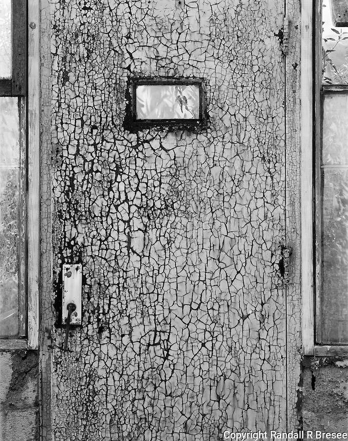 """""""Greenhouse Door"""" <br /> Gibson Greenhouses, Maryville, Tennessee<br /> <br /> This greenhouse door was coated with numerous layers of paint which aged into a beautiful texture. I think the texture is depicted well in this photograph."""