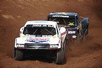 Dec. 10, 2010; Chandler, AZ, USA;  LOORRS pro four unlimited driver Carl Renezeder leads Kyle LeDuc during qualifying for round 15 at Firebird International Raceway. Mandatory Credit: Mark J. Rebilas-