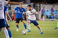 SAN JOSE, CA - MAY 01: Junior Moreno #5 of DC United controls the ball during a game between San Jose Earthquakes and D.C. United at PayPal Park on May 01, 2021 in San Jose, California.