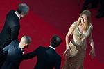 70eme Festival International du Film de Cannes. Montee de la ceremonie de cloture, vues du toit du Palais . 70th International Cannes Film Festival. Vew from rof top of closing red carpet<br />  Thurman, Uma; Kateb, Reda
