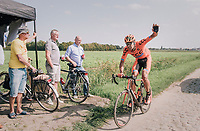 """in desperate need of a wheel...<br /> <br /> Antwerp Port Epic 2018 (formerly """"Schaal Sels"""")<br /> One Day Race:  Antwerp > Antwerp (207 km; of which 32km are cobbles & 30km is gravel/off-road!)"""