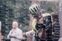 Esteban Chavez (COL/Mitchelton-Scott) signing on<br /> <br /> stage 21: Roma - Roma (115km)<br /> 101th Giro d'Italia 2018