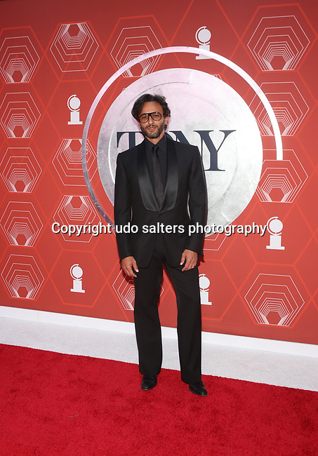 Davide Borella attends the 74th Tony Awards-Broadway's Back! arrivals at the Winter Garden Theatre in New York, NY, on September 26, 2021.