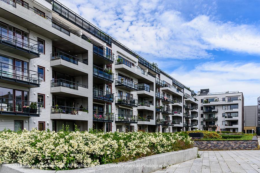High-end condos on Kristiansand harbor